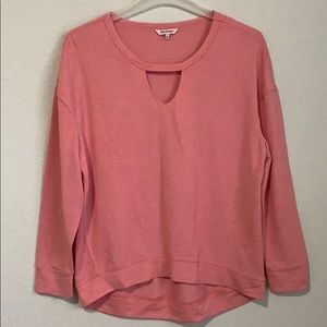 JUICY COUTURE LONG SLEEVE KEYHOLE TOP